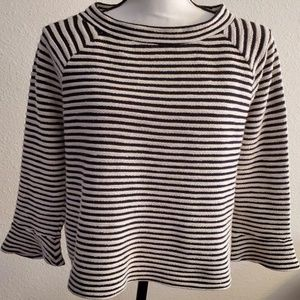 Ann Taylor Loft Cotton Striped Sweatshirt Size M